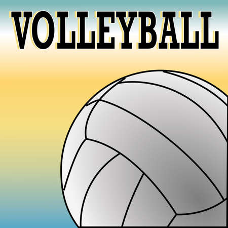 yelllow: volleyball ball on special blue and yellow background