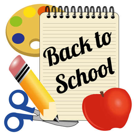 back to school icon on white background Vector