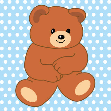 special teddy bear on special blue background Illustration
