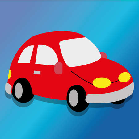 abstract car toy on special blue background Vector
