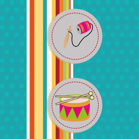 coloful: abstract toys on special blue coloful background Illustration