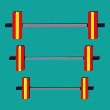 powerlifting: powerlifting symbol on blue background Illustration