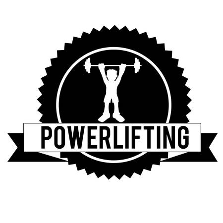 powerlifting symbol on white background