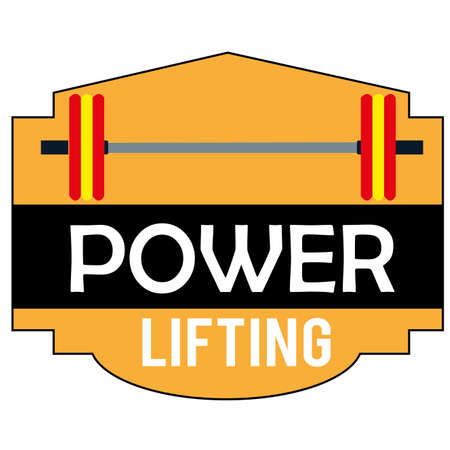 powerlifting: powerlifting symbol on white background