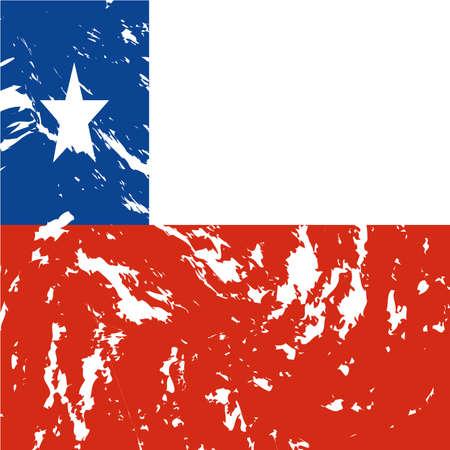 bandera de chile: sucio Chile fondo de la bandera