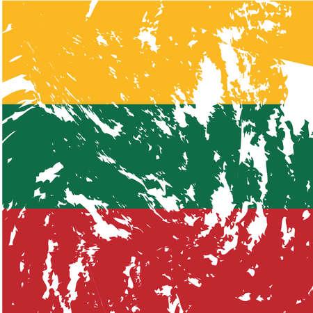 lithuania flag: dirty Lithuania flag background