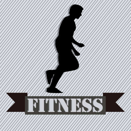 runing: abstract man silhouette runing on special gray background