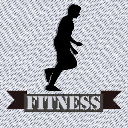 runing: silueta del hombre abstracto runing sobre fondo gris especial Vectores