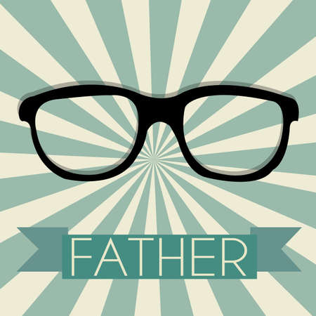 abstract glasses representing Father's day symbol on special background Stock Vector - 21802596