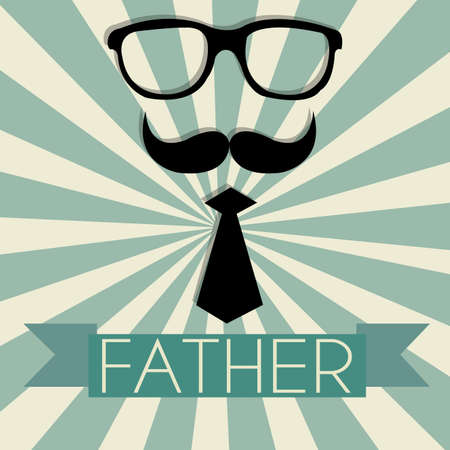 abstract face representing a father's day symbol on special background Stock Vector - 21802600