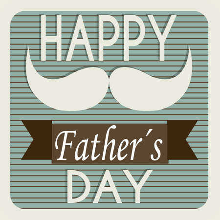 mustache representing a fathers day symbol on special fathers day card Vector