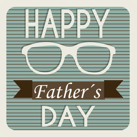 glasses representing a father's day symbol on father's day card Stock Vector - 21802608