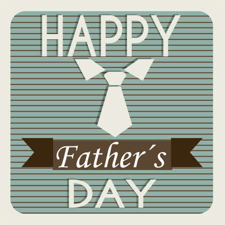 tie representing a father's day symbol on father's day card Stock Vector - 21802609