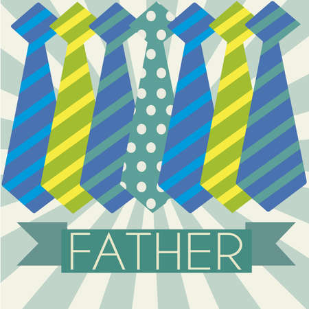 abstract ties representing father's day symbol  on special background Stock Vector - 21802622