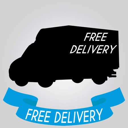 abstract delivery vehicle on special gray background