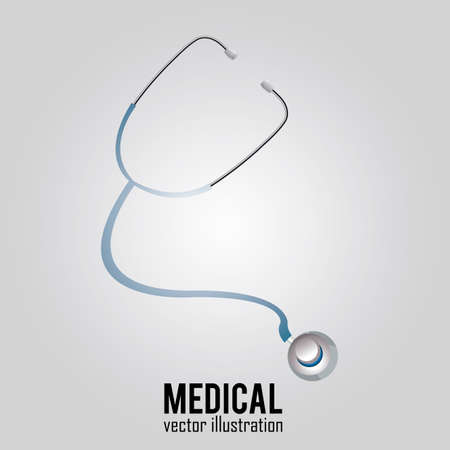 abstract medical stethoscope on special gray background