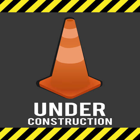 abstract construction tool making a special under construction background Vector