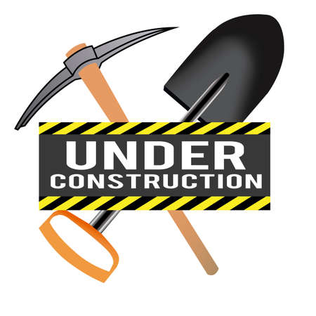 pica: abstract construction tool making a special under construction background Illustration