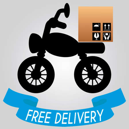 abstract delivery vehicle on special gray background Vector