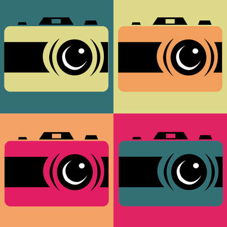 abstract pop art object on special pop art background Vector