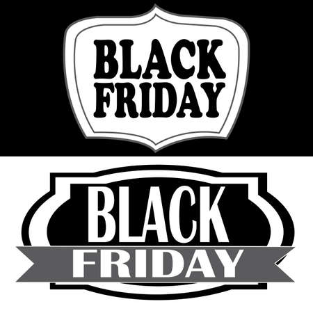 abstract black friday labels on white background
