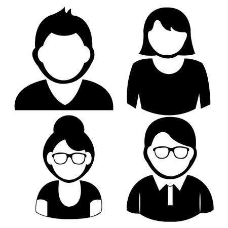 abstract different  people icons on white background Vector