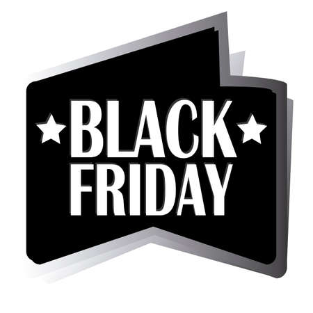 abstract black friday label on white background