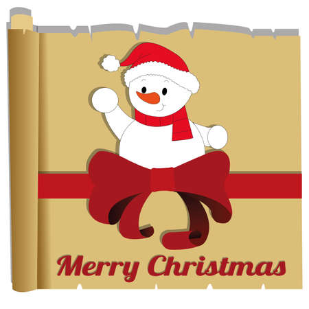 abstract christmas background with some funny objects Vector