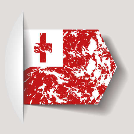 tonga: abstract Tonga flag on a white background