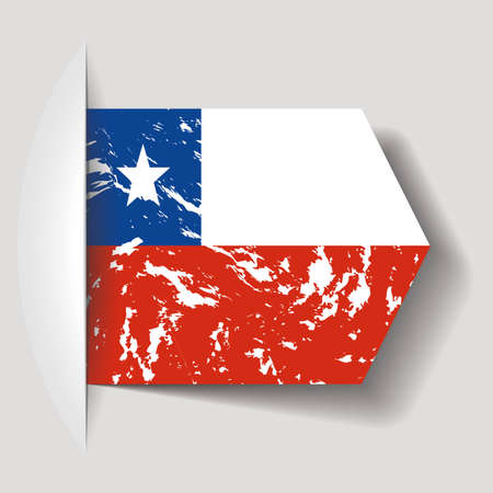 bandera de chile: abstracto bandera de Chile sobre un fondo blanco Vectores
