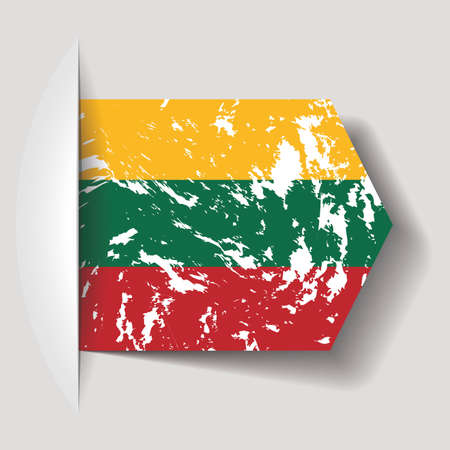 lithuania flag: abstract Lithuania flag on a white background