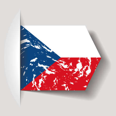 abstract Czech Republic flag on a white background Vector