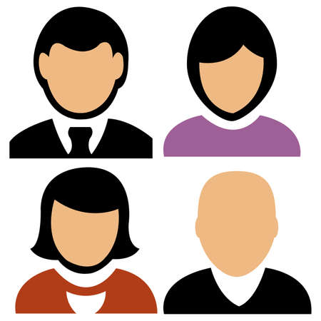 Personas abstracta iconos en un fondo blanco Foto de archivo - 24013276