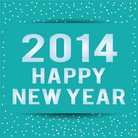 abstract happy new year text on special background Illustration