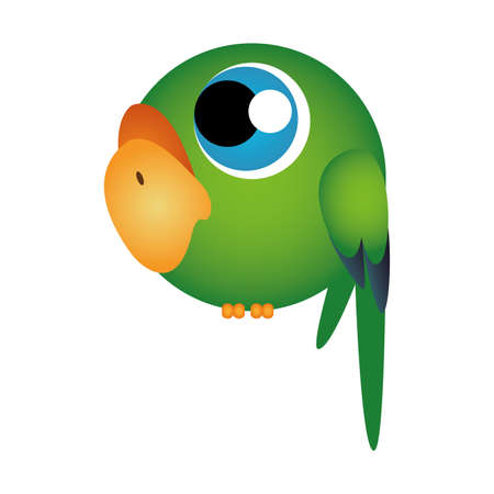 abstract cute parrot on a white background Vector