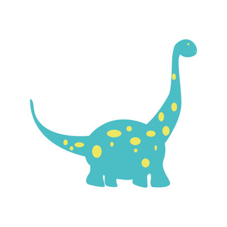 Abstract cute Dinosaur on a white background
