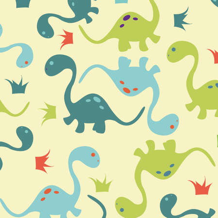 abstract cute dinosaurs making a special background Illustration