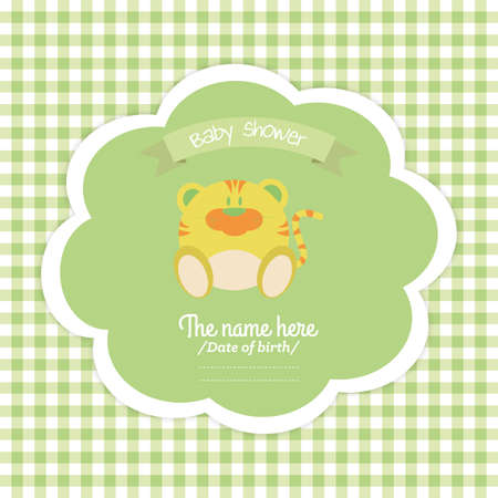 abstract baby shower label on a special background Vector
