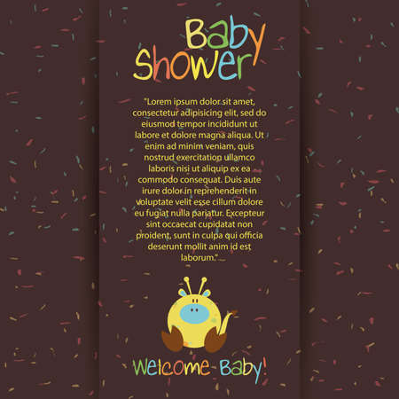 abstract special cute baby shower invitation card Vector