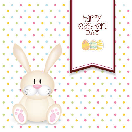 abstract Happy easter background with special objects Vector
