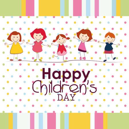 Fondo del día de los niños abstractos con objetos especiales Foto de archivo - 26455789
