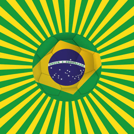 allusive: abstract background with a brazil allusive objects Illustration