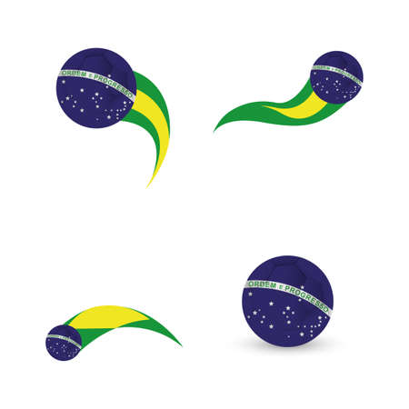 abstract background with a brazil allusive objects Illustration