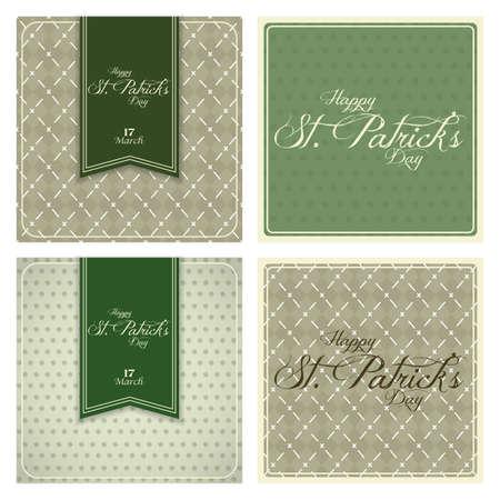 four different st. Patricks day background   Illustration