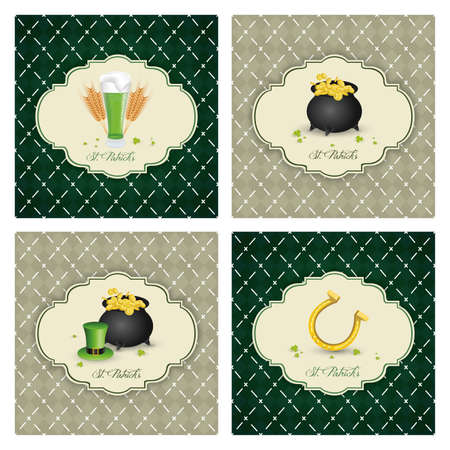 four different st. Patrick's day background   Vector