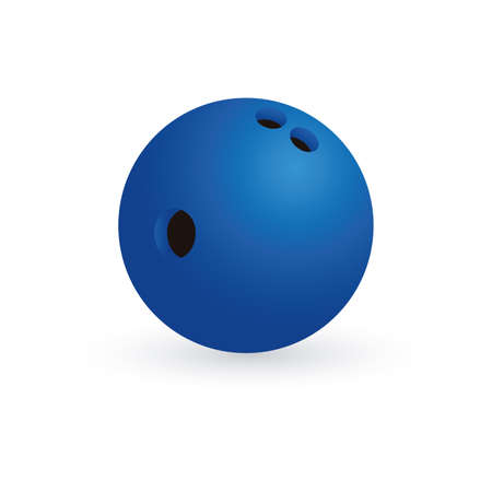 bowling ball: abstract bowling ball on a white background Illustration