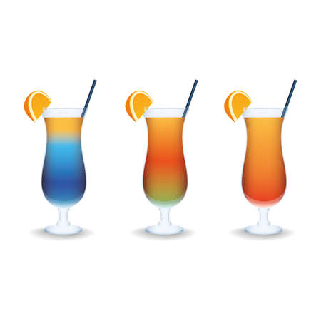 effervescent: abstract isolated beverages on a white background