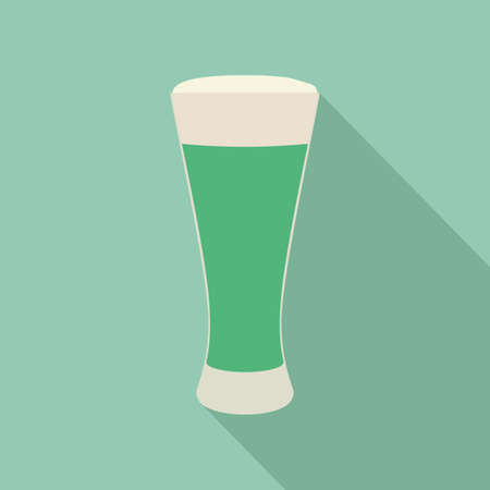effervescent: abstract isolated beverage on a green background Illustration