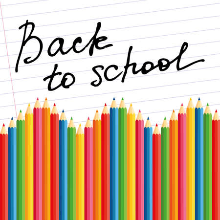 abstract back to school background with special objects Vector