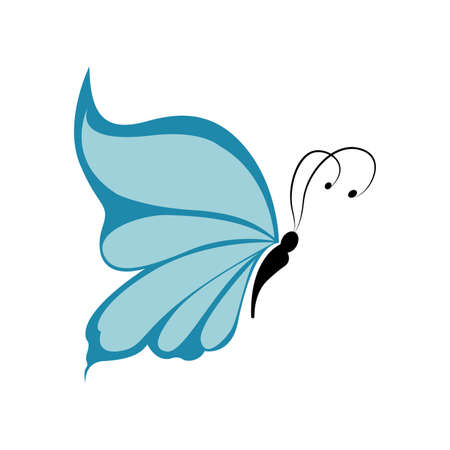 abstract cute butterfly on a white background Vector